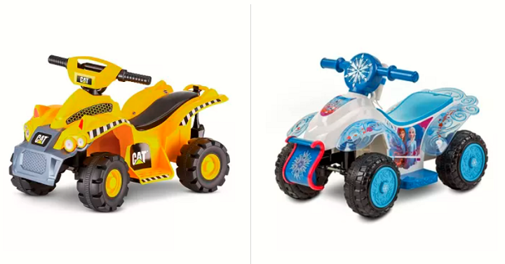 6V Quad Powered Ride-On (Frozen, Trax CAT or Nickelodeon) Only $59!!