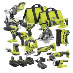Ryobi ONE+ 18V Cordless 12-Tool Combo Kit with 3 Batteries and Charger only $599.00