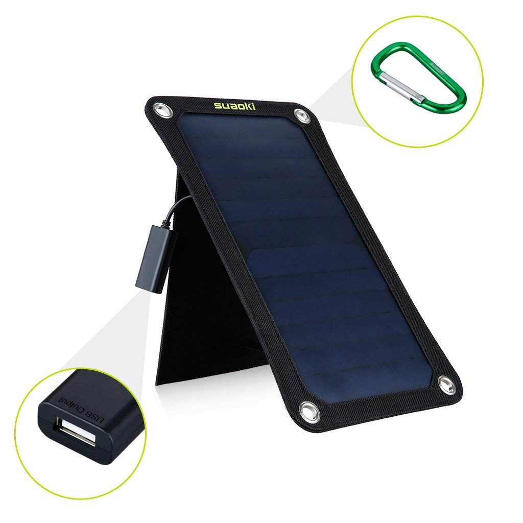 7W / 14W / 25W Quadruple Solar Panel Charger High Efficiency Dual-Port Portable Foldable Charger