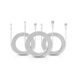 10-Foot Apple MFi-Certified Lightning Cables - 3 Pack