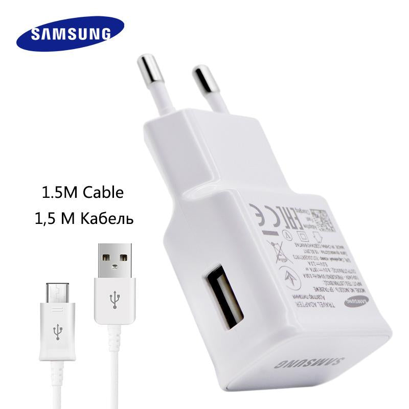 100% Original Samsung Fast Charger Galaxy Note4 5 S7 6 edge Adaptive Quick Charge 9V1.67A&5V2A 1.5M Micro USB Cable wall charger
