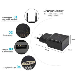 100% Original Samsung Galaxy S8 S8 plus Fast Charger Type-C Adaptive Quick Charger EU/US/KU note 8 Travel Charging 9V 1.67A&5V2A