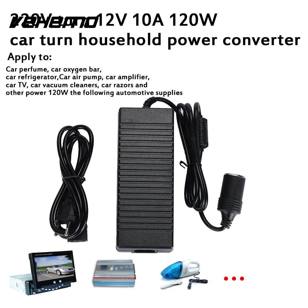 10A AC 220V To DC12V Home Transverter Portable Power Supply Adaptor Durable Charger Adapter Automobile Socket