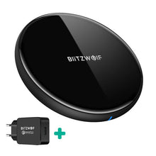 Load image into Gallery viewer, BlitzWolf BW-FWC4 5W 7.5W 10W Fast Wireless Charger Charging Pad+BW-S5 QC3.0 18W USB Charger