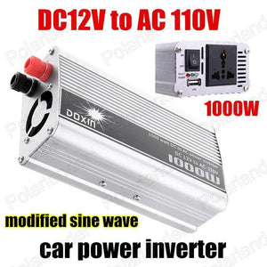 12V DC to AC 110V Car Auto Power Inverter Converter Adapter 1000W USB Free Shipping Modified Sine Wave