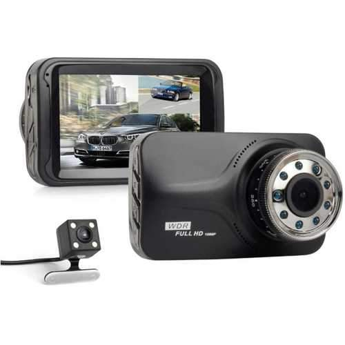 3.0 Inch Dual Len Camera HD Car Video Recorder DVR Dash Cam G-Sensor Night Vision