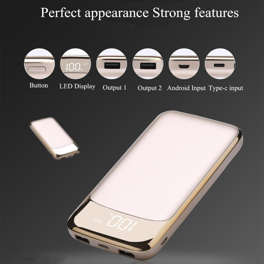 18650 Power Bank 20000Mah External Battery Portable Mobile Phone Charger Universal Dual Usb
