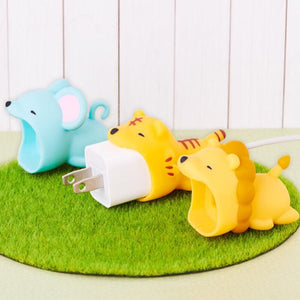 Cartoons Animal Cable Bite Plug Protector Cute Shaper for iphone ipad Anti-break USB Charger Cover