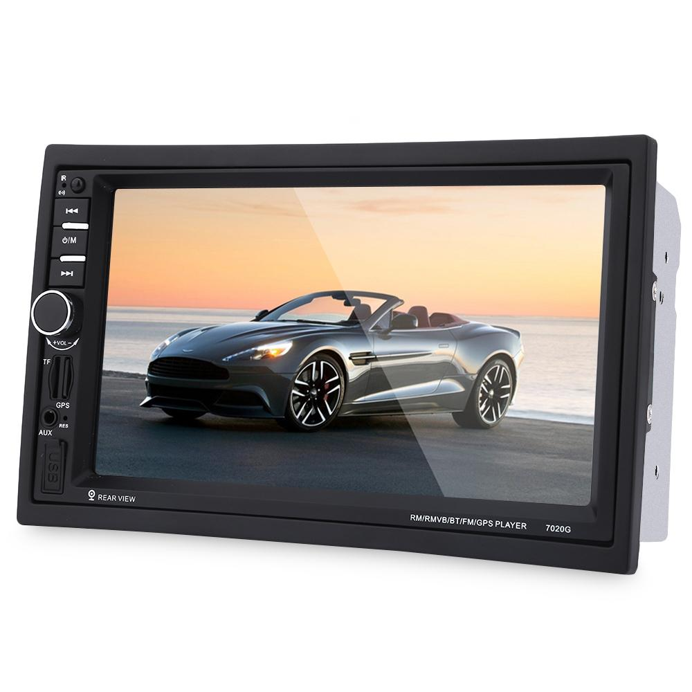 7020G 7 inch Car Audio Stereo MP5 Player Remote Control Rearview Camera GPS Navigation Function