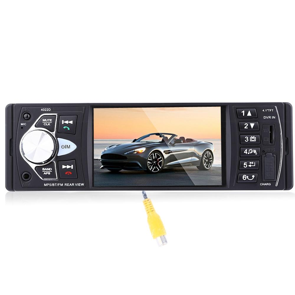 4022D 4.1 Inch Car MP5 Player Bluetooth TFT Screen Stereo Audio FM Station Auto Video with Remote Control Camera