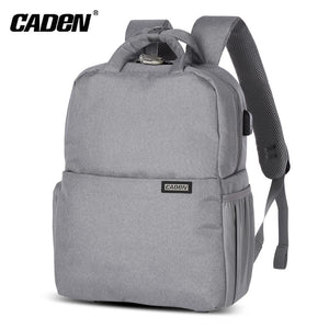 Caden L5 Large Capacity Camera Backpack with USB Charging Port for Digital SLR