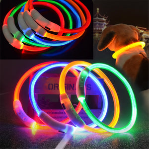 LED Rechargeable Waterproof Safety Pet Collar