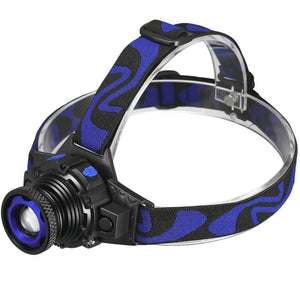 36000LM Zoomable Headlamp T6 LED Headlight Lamp Flashlight+Charger+18650battery 692753834270