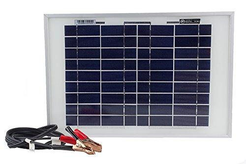 10 Watt Polycrystalline Solar Panel Charger For Trolling Motors - Mighty Max Battery Brand Product