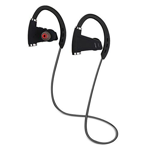 Accering Bluetooth Headphones, Best Wireless Sports Earphones With Mic, Ipx7 Sweatproof, Hd Sound With Bass For Gym Sports Workout, Up To 12 Hours Working Time, Fashion For Man (Black)