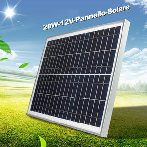 12V 10W 20W Solar Power Polycrystalline Cells Solar Panel Poly Solar Module Solar Panel Battery Charger Solar Panel System