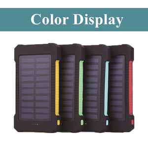 500000mAh Portable Solar Power Bank Dual-USB Led Solar Battery Charger for all Phone Universal Charger