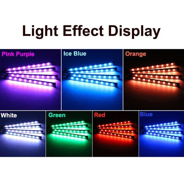 5050 12 SMD 5V LED RGB Decorative Car Light USB Ambient Light Car Styling Music 7 Colorful Control  Interior Atmosphere Lamp