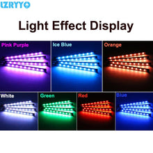 Load image into Gallery viewer, 5050 12 SMD 5V LED RGB Decorative Car Light USB Ambient Light Car Styling Music 7 Colorful Control  Interior Atmosphere Lamp