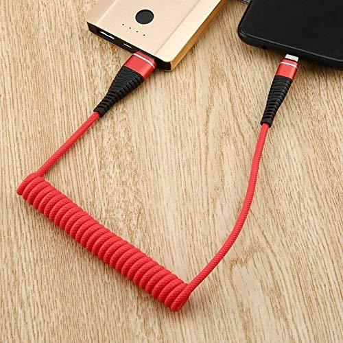 Cable Charging USB Micro Data Spring Coiled Flexible Lead Charger for Android