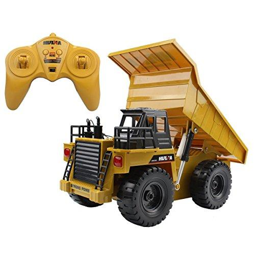 2.4Ghz Radio Control 6 Channel Rc Dump Truck Construction Truck W/Lights