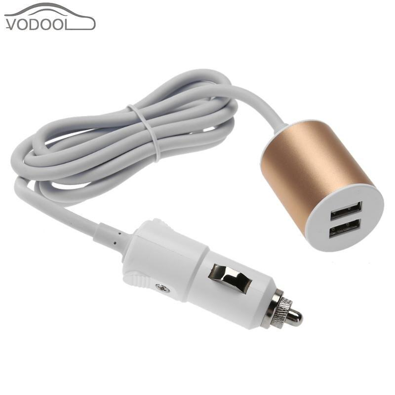 5V 3.1A Dual USB Car Charger Charging Adapter with Cigarette Lighter Plug for Phone Tablet PC Short Circuit Protection