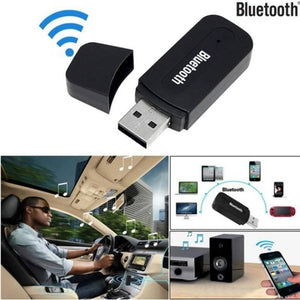 Black Quality USB Wireless Bluetooth 3.5mm Aux Audio Stereo Car Music Receiver Adapter