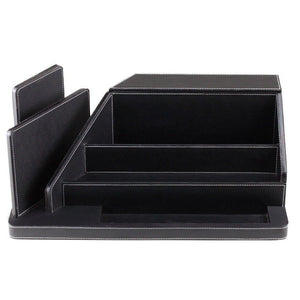 Shop here g u s all in one charging station valet and desktop organizer multiple finishes available for laptops tablets phone and wearable technology black leatherette