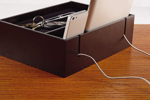 Top massca original valet charging station multi device office desk organizer perfect nightstand organizer great for your wallet keys phones and other electronic devices perfect gift idea