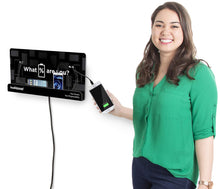 Load image into Gallery viewer, The best kwikboost wall mount cell phone charging station multi device kiosk with 8 ports compatible with iphone ipad samsung tablets and more 18 x 9
