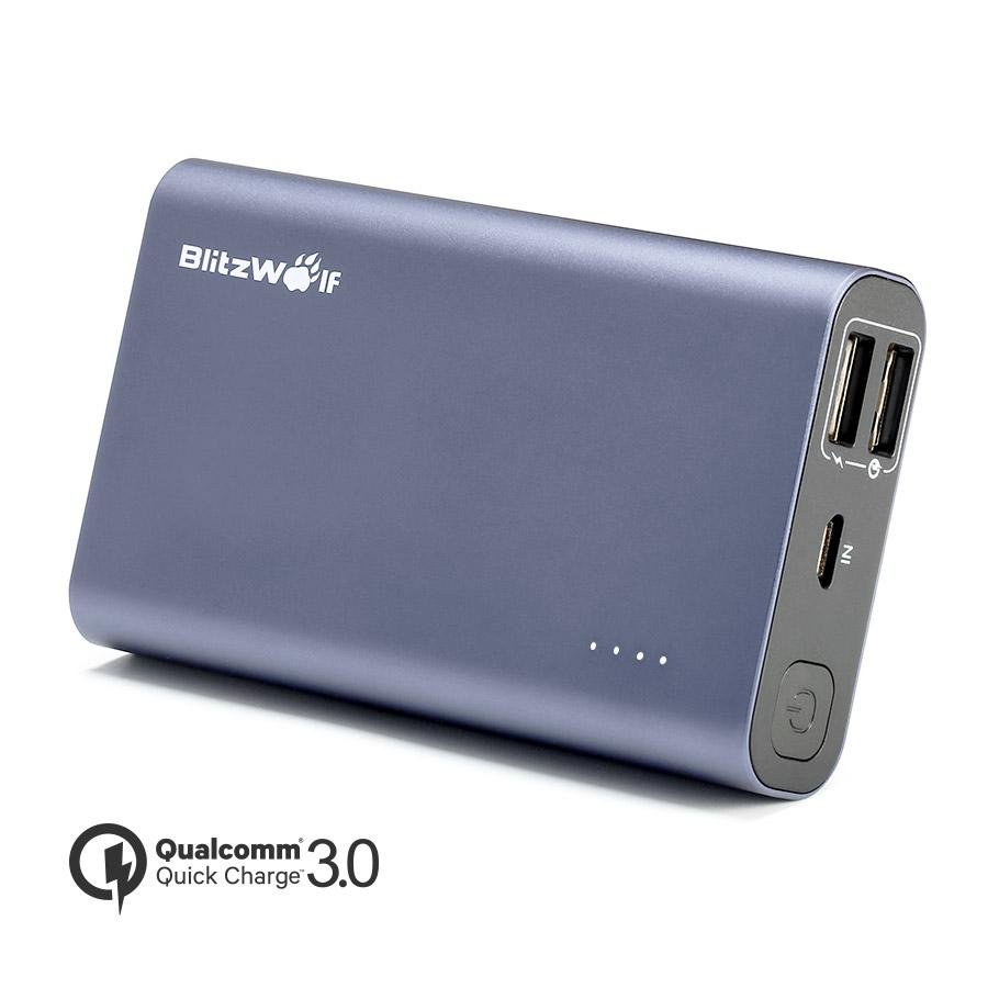 BlitzWolf® BW-P3 10000mAh 18W QC3.0 Dual Usb Port Power Bank for iphone 8 8 Plus iphone X Xiaomi Samsung