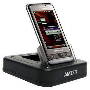 AMZER Desktop Cradle with Extra Battery Charging Slot for Samsung Omnia