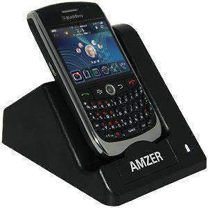 AMZER Desktop Cradle with Extra Battery Charging Slot for BlackBerry Curve 8900