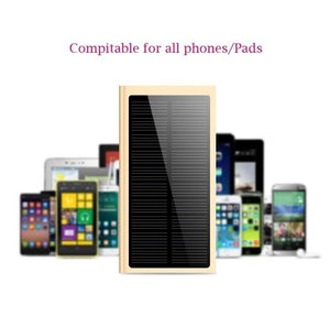2018 New Solar Power Bank with LCD ultra thin External solar charger powerbank for all mobile phone for outdoors/camping/explore