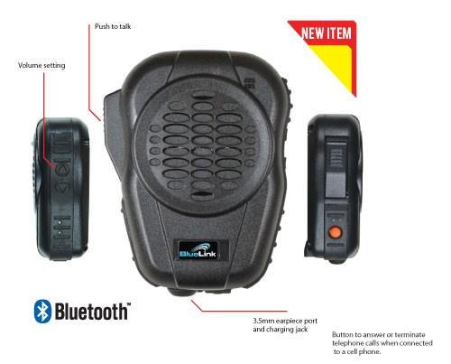 Code Red Headsets BlueLink Bluetooth Public Safety Speaker Microphone