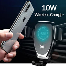 Load image into Gallery viewer, 10W QI Wireless Charging for Samsung Galaxy S10 S9 S8 S6 S7 Edge Car Phone Holder for IPhone X XS MAX XR 8 Plus Wireless Charger