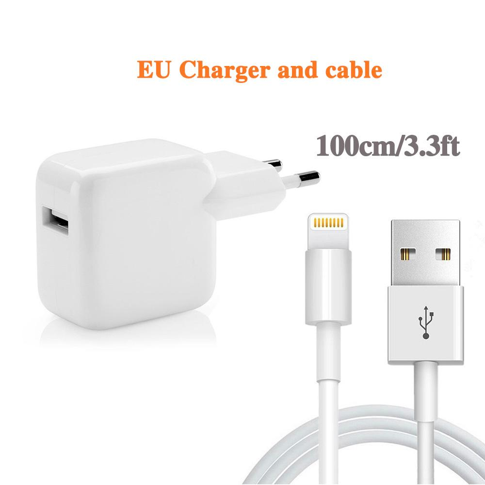 12W 5V 2.4A USB fast charger for iphone 6s 7 8plus X Xmax XR XS ipad mini air pro quick charger 3.0ft usb cable
