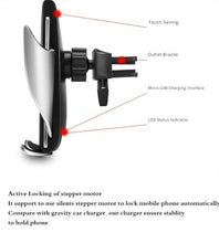 Load image into Gallery viewer, 10W Wireless Car Charger S5 Automatic Clamping Fast Charging Phone Holder Mount in Car for iPhone Huawei Samsung Smart Phone