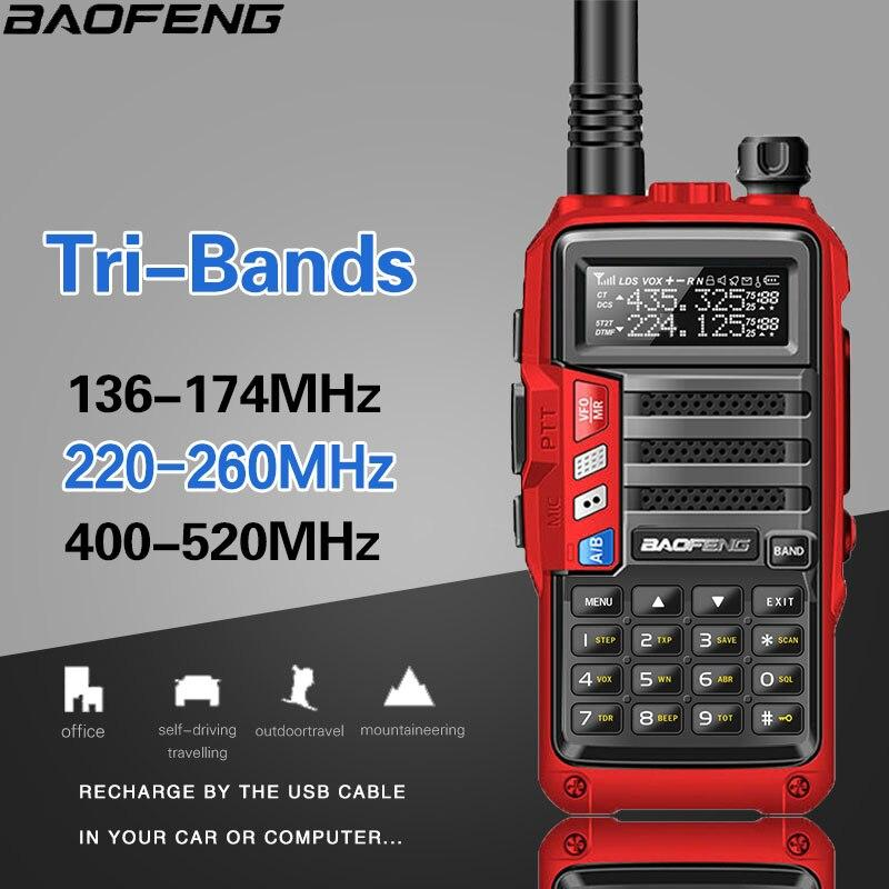2019 BaoFeng UV-S9 High Power 8Watts Portable Walkie Talkie 10km Long Range CB Radio Transceiver for