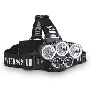 6 Mode LED Head Light Flash Torch x 2