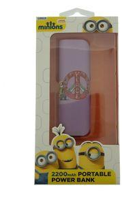 Bytechinc: Minions Peace Sign Design 2200mAh Portable Power Bank USB Charger Cable Included