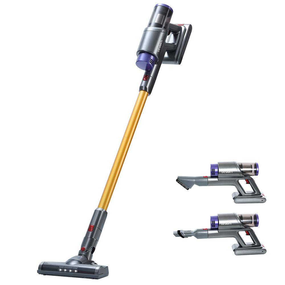 150W Handstick Stick Vacuum Cleaner Gold and Grey
