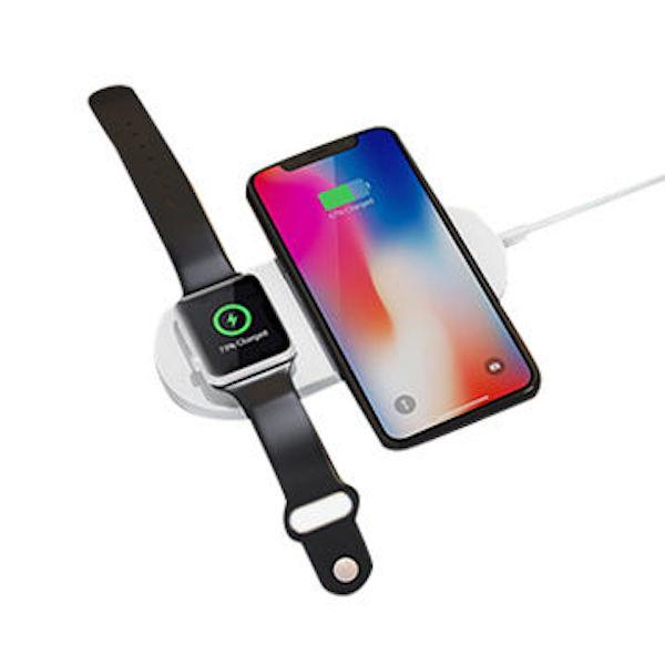 Wireless Charger Fast Charger 2 in 1 Mini AirPower Wireless Charger For Cell Phones Bluetooth Watch By LUD | Quick Wireless Charging Pad Dock For Smart Cell Phones