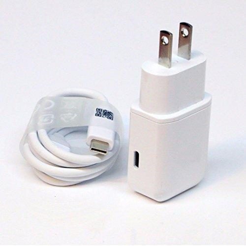 Accessory for Xolo OEM Professional Xolo Q900 Smartphone Quick Charge 3.0 Adaptive Fast Wall Charger with 2 Cables for Usbc and Microusb. [White/1m Cables]