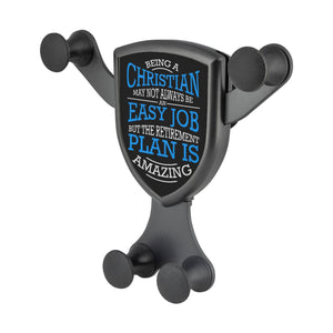Being Christian Not Easy But Retirement Is Amazing Qi Wireless Car Charger Mount