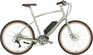 Civia Parkway Step-Over Complete ebike: 26 Clay Gray Medium