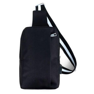 Black Crossbody Shoulder Sling Bag with USB Charging Port