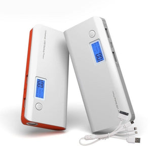 100000mAh 2 USB Power Bank LCD LED Battery Charger+(5 in 1) charge Cable