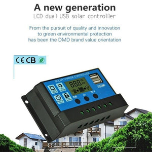 10/20/30A 12V 24V Solar Panel Charger Controller Battery Regulator Dual USB LCD Display