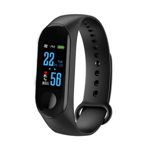 Bakeey M3C Plus Heart Rate Blood Pressure Sleep Monitor Sport Mode Social Media Smart Watch Bracelet